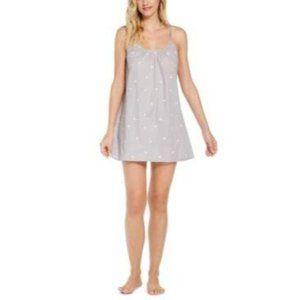 Jenni Womens Sleep Shirt Nightgown Gray L Palms